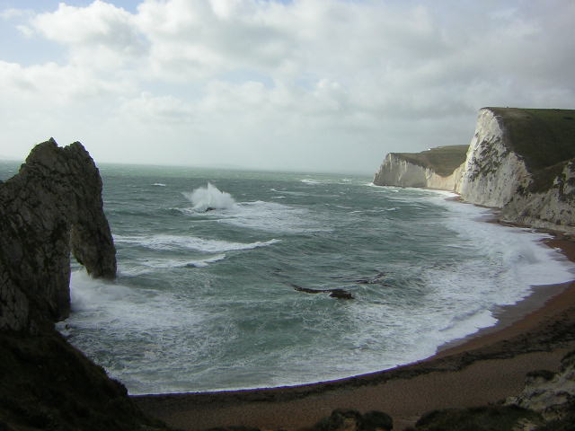 Fresh winds at Durdle Door